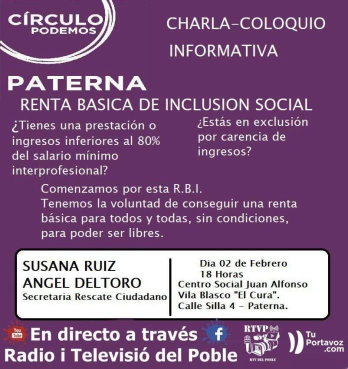 Renta Básica de Inclusión Social con Susana Ruiz y Ángel Deltoro 02-02-18.