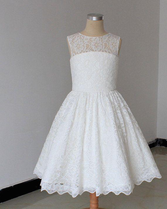 Flower Girl Dress  lace Flower Girl Dress Baby girl by hytdress, $66.00