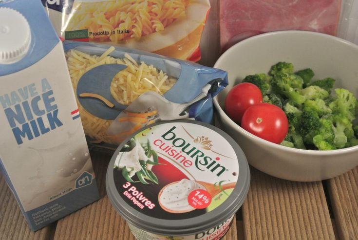 Pasta ovenschotel met kruidenroomkaas, ham en broccoli (19/01/2014?)
