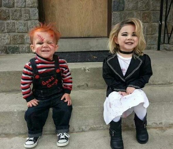 Chucky and Tiffany | Community Post: 32 Parents Who Nailed It On Halloween
