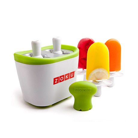 It takes two to Zoku with the Zoku Duo Quick Pop Maker. Enjoy the same size pops as the original Quick Pop Maker and freeze them just as fast—making up to six p