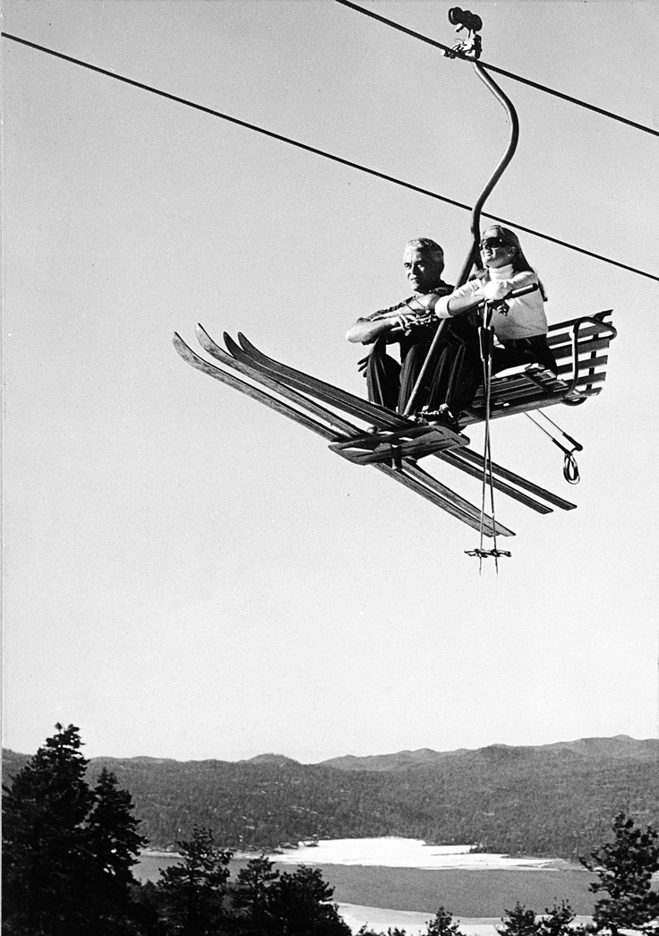 First Chairlift At Snow Summit Vintage Pinterest
