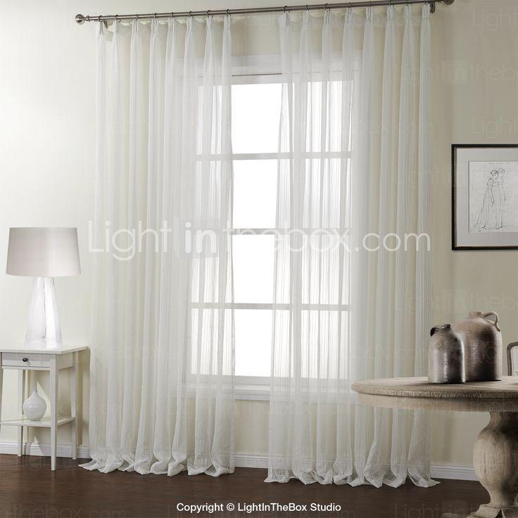 To paneler Window Treatment Moderne , Stribe Soverom Polyester Materiale Gardiner Skygge Hjem Dekor For Vindu 687493 2017 – kr.363