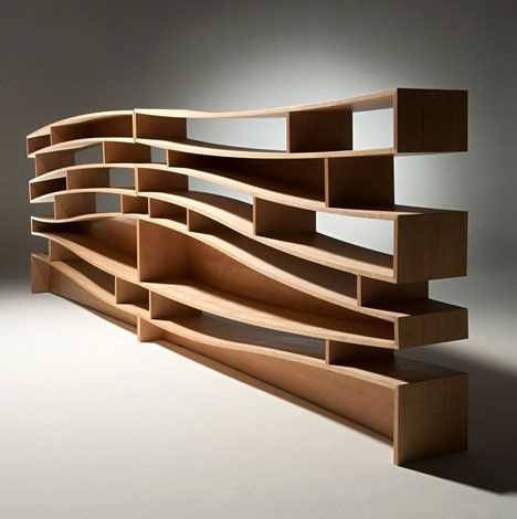 Amazing Bent Wood Book Case