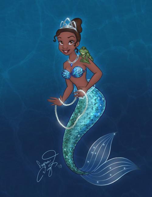 Mermaid Tiana - disney-princess fan art