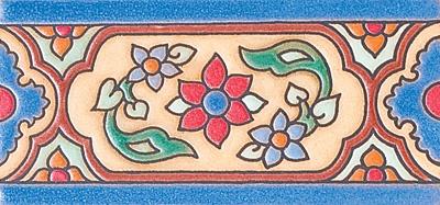 "Daisy Crest, 3""x6"" Decorative Border"