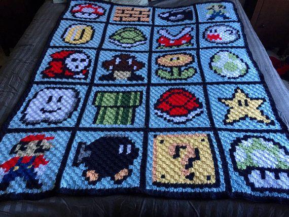 Crochet Pattern For Mario Blanket : 1000+ ideas about Mario Crochet on Pinterest Crochet ...