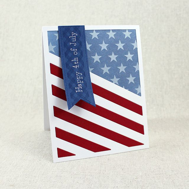 Happy 4th Of July Card by Lizzie Jones for Papertrey Ink (May 2016)