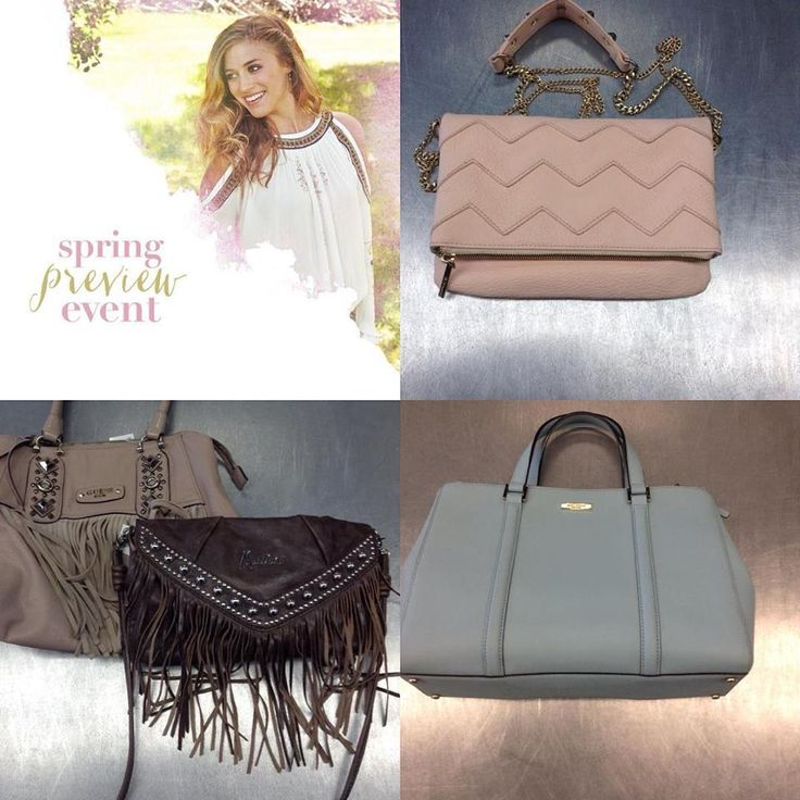 Our #springpreview event is this weekend (Feb. 20&21) and whether it's pretty #pastels or neutral #fringe we have the perfect #armcandy to complete your #springstyle. Blue Kate Spade $125 pink BCGB $40 Taupe Guess $24 Brown Marciano $35. We will unfortunately be unable to take any holds due to the event. Doors open Saturday at 10am!!! #iloveplatoskw   www.platosclosetkitchener.com