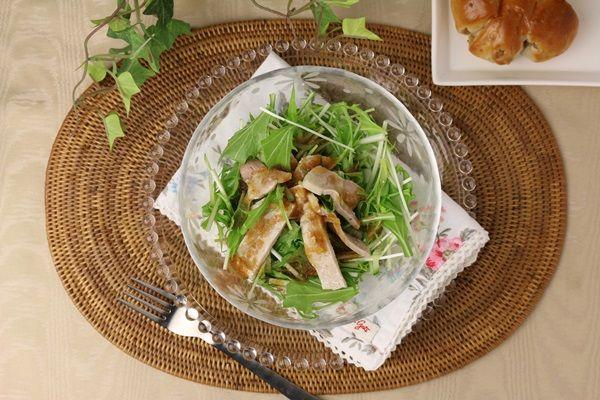 【簡単レシピ】十勝 豚丼の具(塩味)で水菜とポークのサラダ  oriental-foods-pork-ricebowl-4944748636441-39