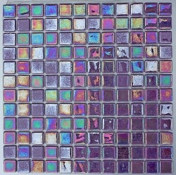 purple and related glass tiles