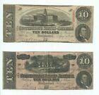 1864 $10 DOLLAR BILL CONFEDERATE STATES CURRENCY O…