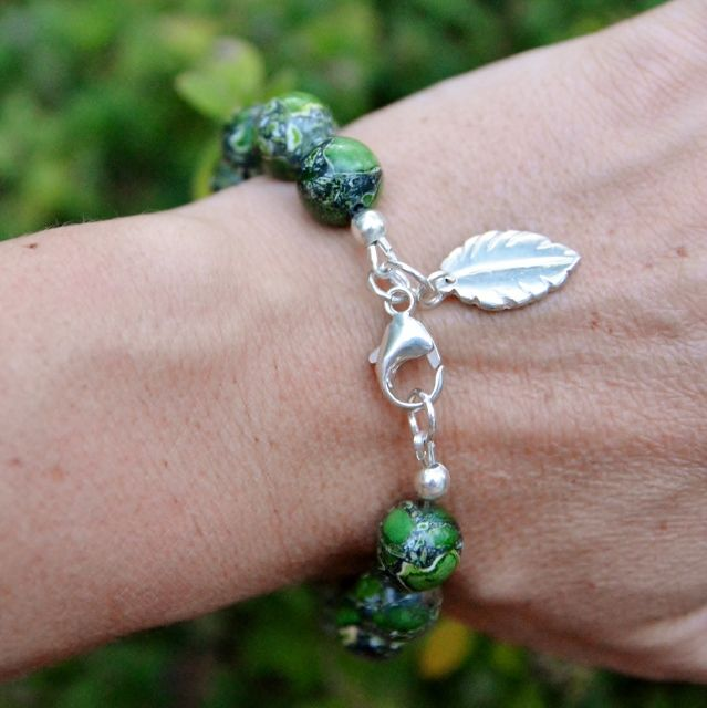 The amazing Turtle Love Bracelet is created from green turquoise gemstones and is not seen elsewhere. Each gem is naturally different. Shop Now.