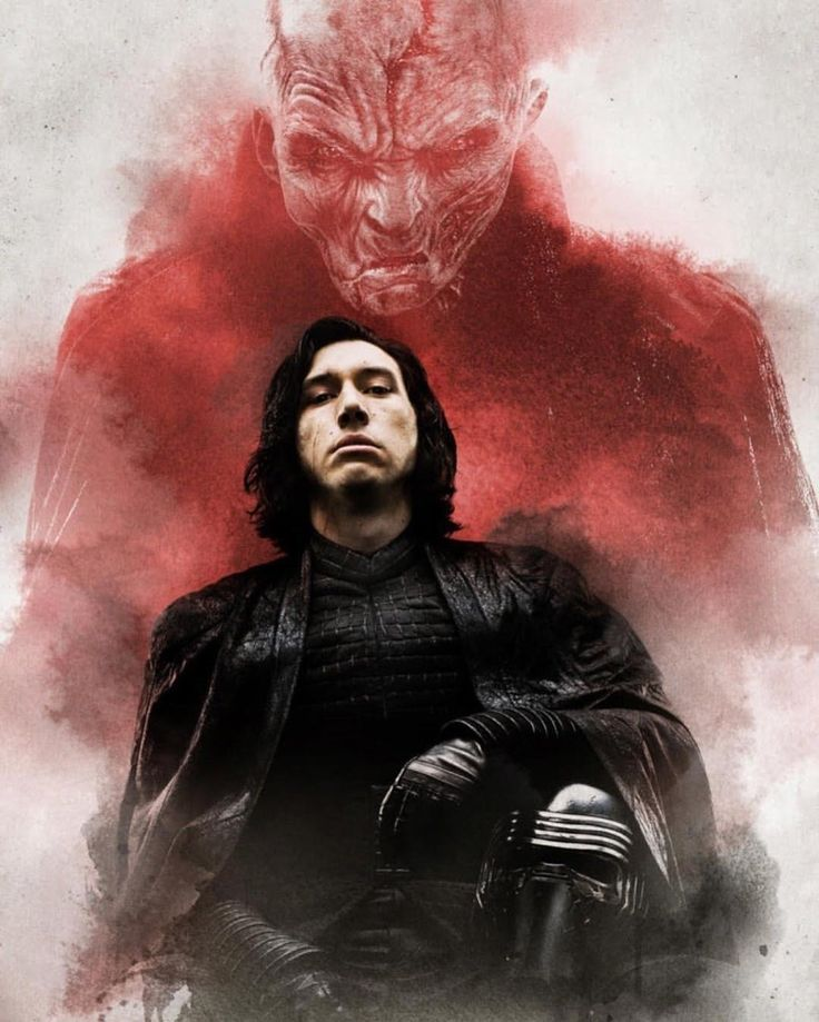 Kylo Ren and his master Snoke