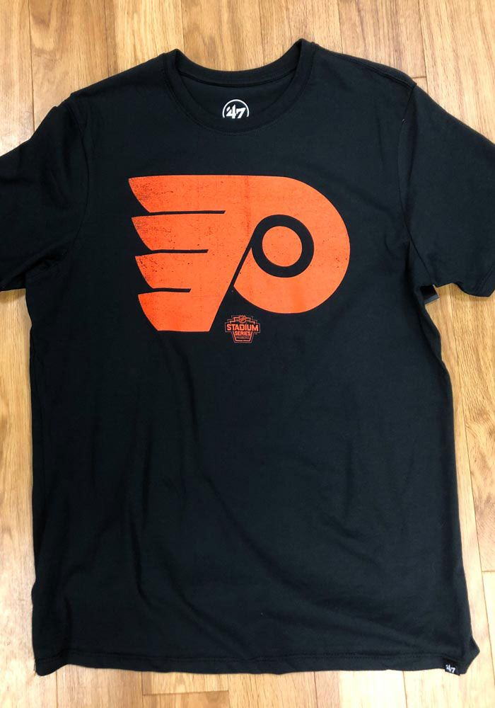 wholesale dealer 2eaa1 0767e 47 Philadelphia Flyers Black Stadium Series Logo Short ...