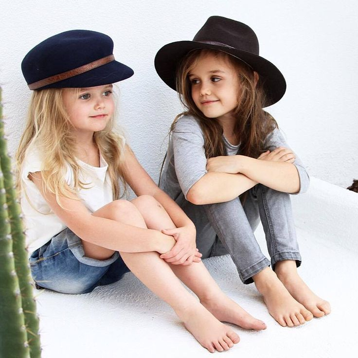 Criminally cool Hipkin sisters!  Blondie: Ava tee + Denton denim shorts Brown locks: Grey Madison jeans  Pic: Hipkin