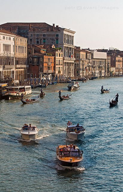 Grand Canal with Boats, Venice, Italy