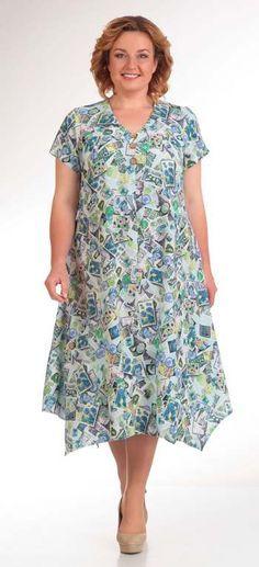 Платья для полных женщин белорусской компании Novella Sharm, весна-лето 2016