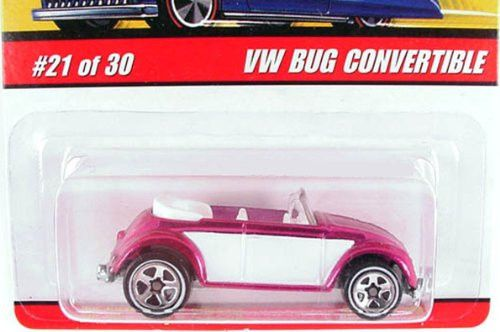 2006 Hot Wheels Classics Series 2 VW Bug Convertible Red/white #21/30