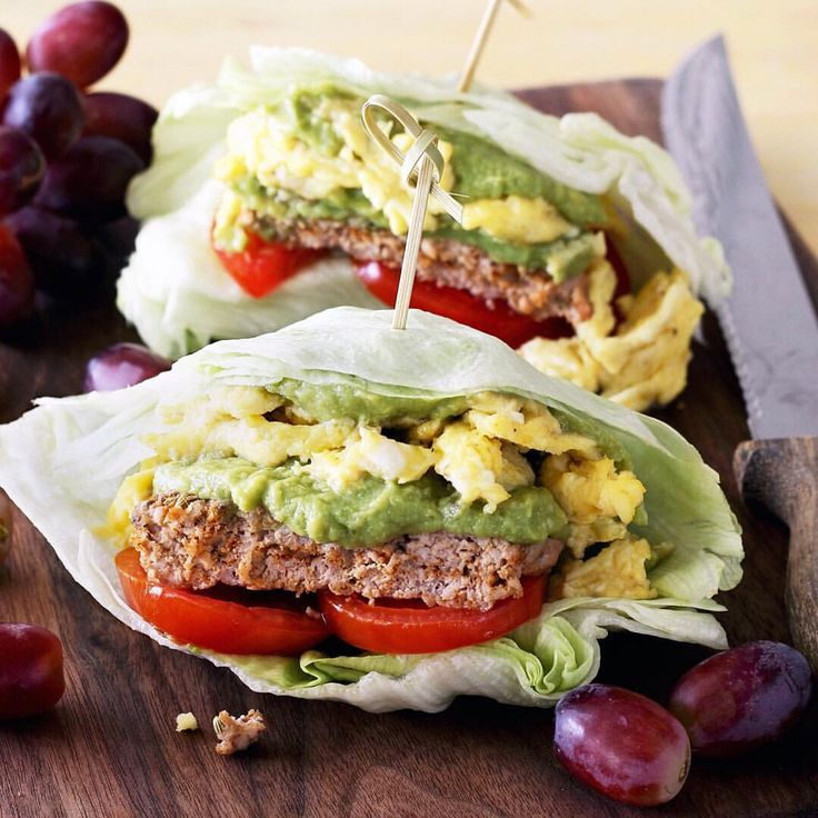 Sausage avocado egg breakfast wraps