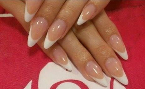 French gel nails almond