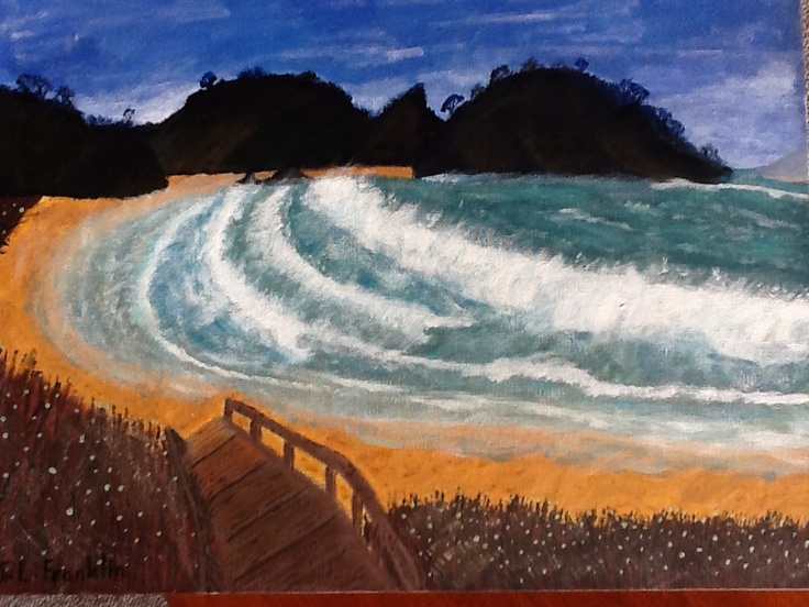 Painted by Jen Franklin 2/5/2013 Matapouri Bay