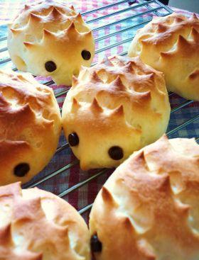 「とげとげはりねずみパン」katumi | お菓子・パンのレシピや作り方【corecle*コレクル】