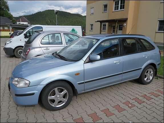 Mazda 323 F Edition/ Jubileum Limousine 2000, 300.000 km, € 1.350,-