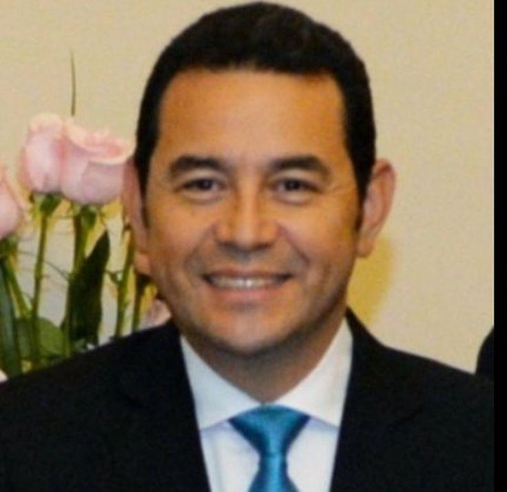 El presidente de Guatemala: JImmy Morales
