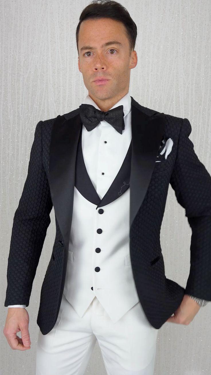 Gq Fashion, Gothic Fashion, Fashion Looks, Wedding Party Dresses, Wedding Suits, Dapper Man, Slim Fit Suits, Formal Suits, Three Piece Suit