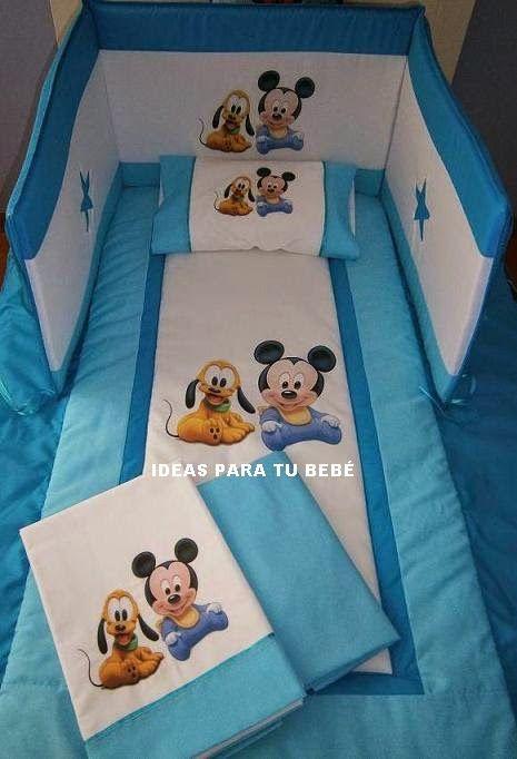 Juego de cuna Mickey y Pluto bebé- Enrique (Málaga) | Aprender manualidades es facilisimo.com