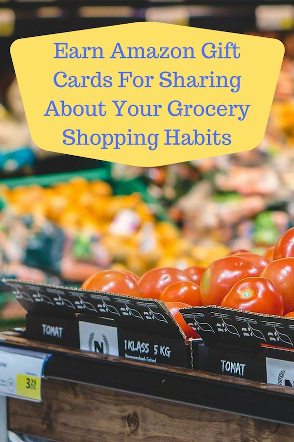 Earn Amazon Gift Cards For Sharing About Your Grocery Shopping #ad