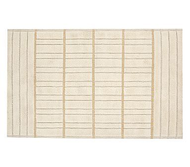 Metallic Shag Rug, 8x10 Feet, Ivory/gold