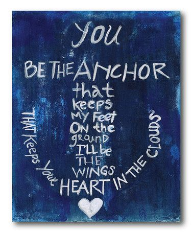 Another great find on #zulily! 'Be The Anchor' Gallery-Wrapped Canvas #zulilyfinds