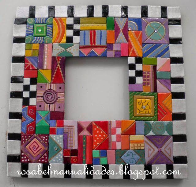 Rosabel manualidades: Marcos decorados con arcilla polimérica