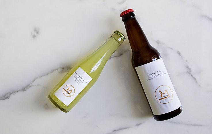 House-brewed beer and Kaffir Collins