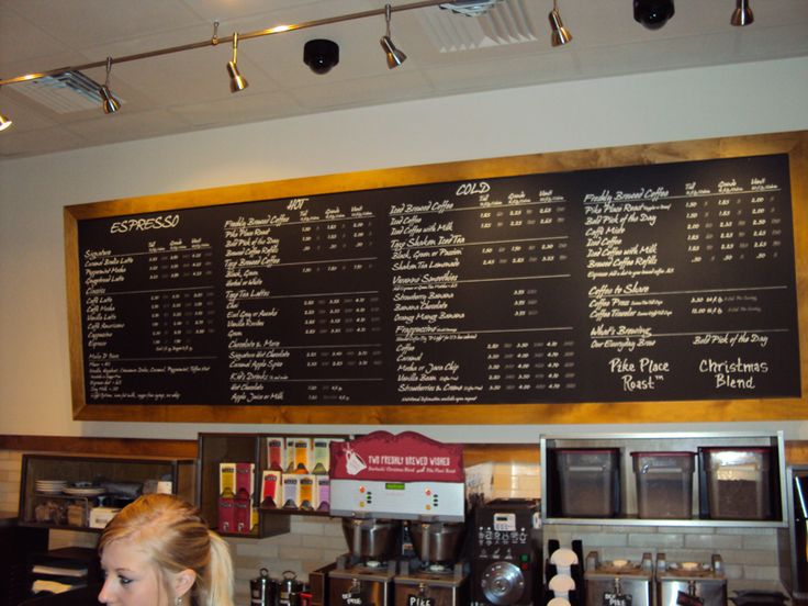 Coffee Shop Menu Boards Store Design And Community Just