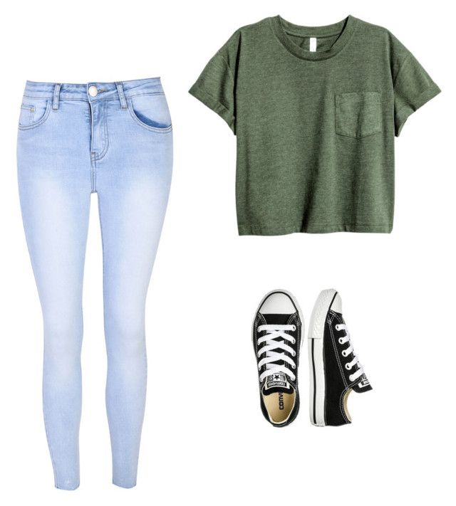 """How to wear converse"" by stylesetter101 ❤ liked on Polyvore featuring Glamorous and Converse"