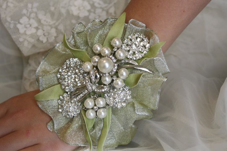 For Mother Wedding Wrist Corsage | Brooch Wrist Corsage-Wedding Bridal Jewelry- Wedding Corsage-Mothers ...