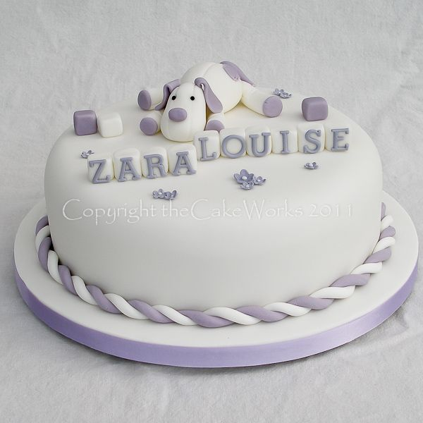 Puppy dog Christening cake, Baptism, Baptism cake, Cake Works, CakeWorks, Christening, Christening cake, Co. Durham, Darlington, Darlington Cakes, Naming Day, theCakeWorks