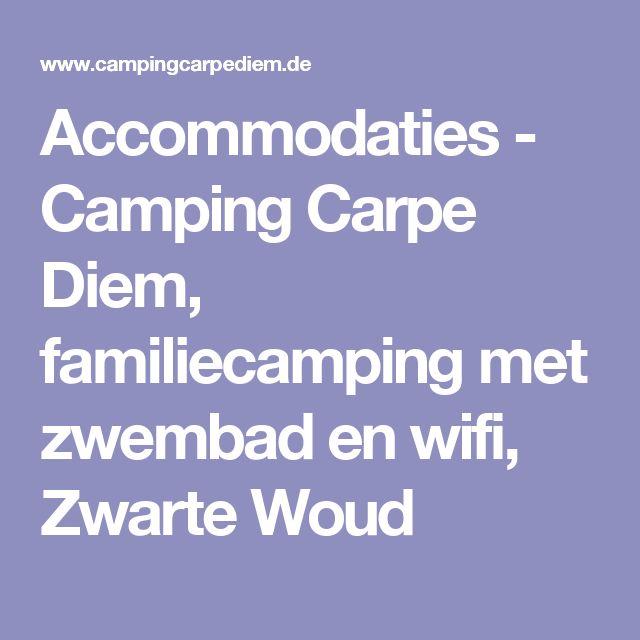 Accommodaties - Camping Carpe Diem, familiecamping met zwembad en wifi, Zwarte Woud