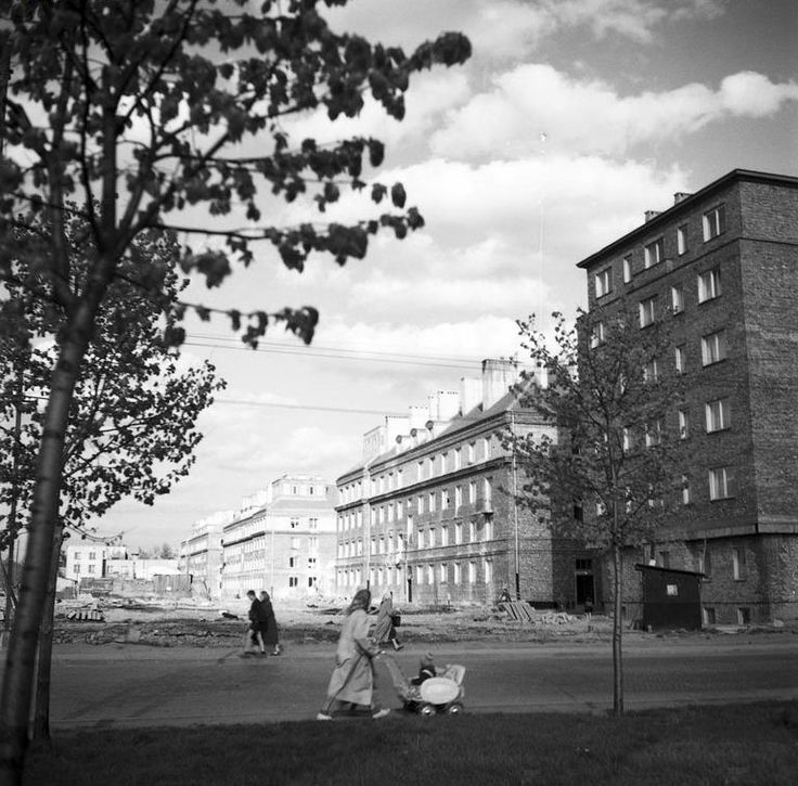 Racławicka przy Al. Niepodległości (1955)