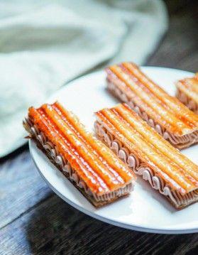 Mille-feuille panini au chocolat au lait de Christophe Michalak