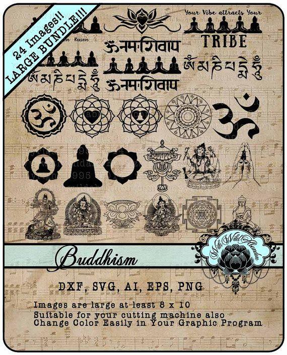 Buddha Clipart Namaste Buddhism Mandala and by withwildabandon