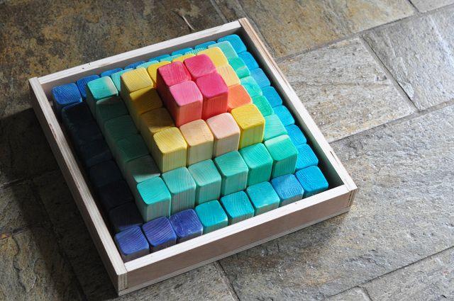 DIY Wooden color blocks for kids <3