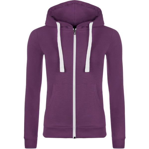 WearAll Zip up Hooded Top ($9.03) ❤ liked on Polyvore featuring tops, hoodies, purple, purple hoodies, purple top, zip up top, purple long sleeve top and zipper top