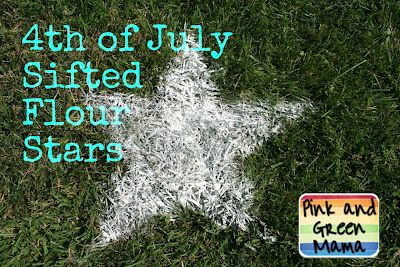 Pink and Green Mama: * 4th of July Sifted Flour Stars Front Lawn Decoration!