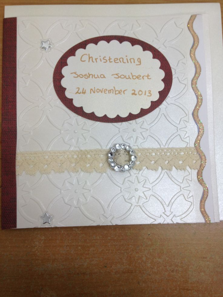 Baptism/Christening card for boy or girl