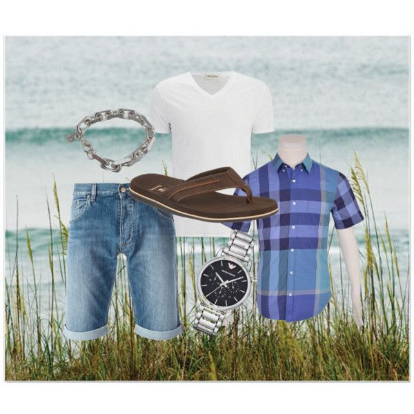 Logan is here! by bearpawstyle on Polyvore featuring Burberry, Theo Fennell, Emporio Armani, Armani Jeans, Bearpaw and American Vintage