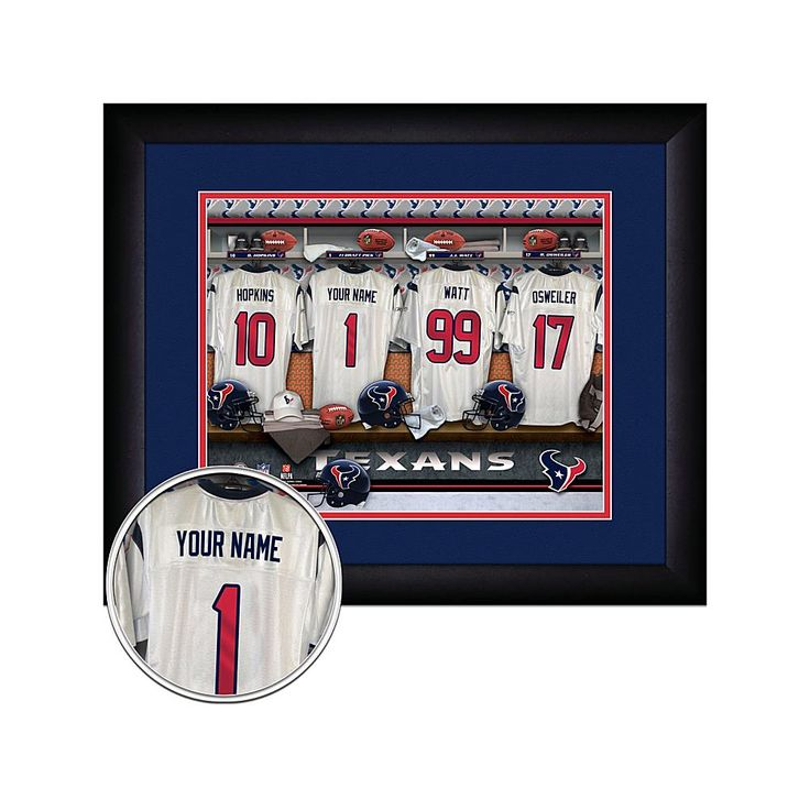 Officially Licensed NFL Personalized Framed Locker Room Print - Houston Texans